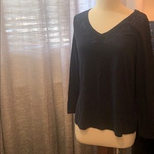 Buy 2 items for $10 Blue v neck long sleeve top